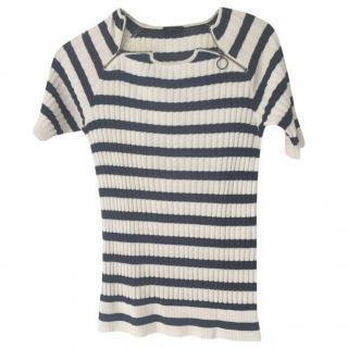 Joseph blue and white stripe sweater