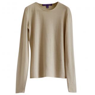 Ralph Lauren Collection beige cashmere jumper