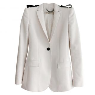 Burberry White Bow Lapel Blazer