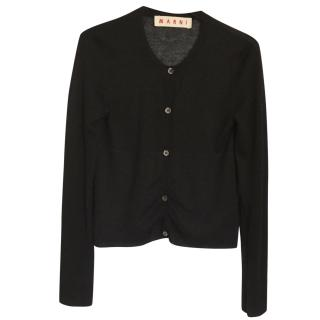 Marni black knit cardigan