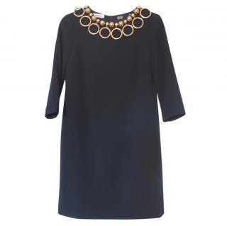 Moschino Embellished Collar Shift Dress