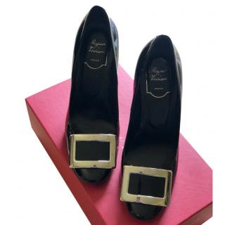 Roger Vivier Patent Black Pumps