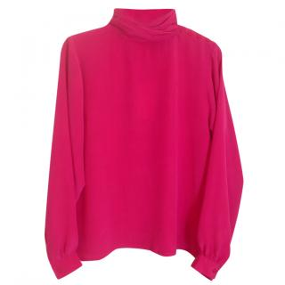 Surface to Air Pink silk blouse