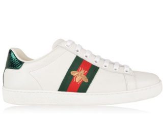Gucci Men's Ace Bee Embroidered Sneakers