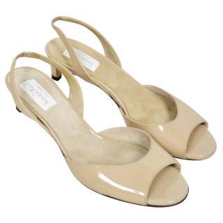 Intrend Max Mara Patent Slingback Sandals
