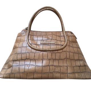 8cae445d5e Coccinelle Croc Embossed Shoulder Bag