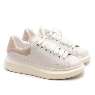 Alexander McQueen Current Season Leather and Suede Runway Sneakers