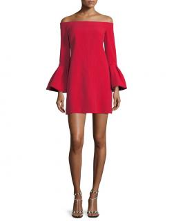 Alexis 'Emery' Off-the-shoulder Crepe Dress
