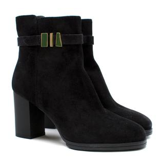 Tod's Chunky Heeled Suede Boots