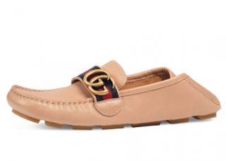 Gucci Nude Marmont Leather Loafers