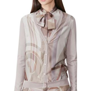 Ralph Lauren Collection cashmere silk-front cardigan