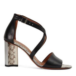 Robert Clergerie Watersnake & Calfskin Sandals