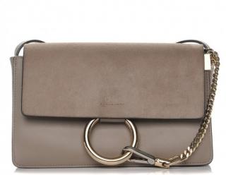 Chloe Small Motty Grey Faye Shoulder Bag