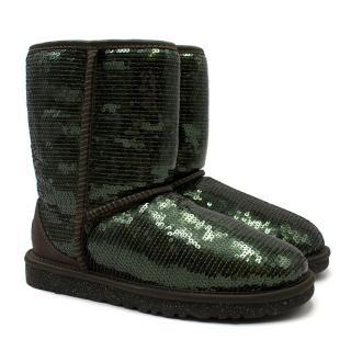 UGG Emerald Green Sequin Short Boots