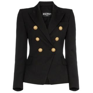 Balmain Black Fitted Blazer
