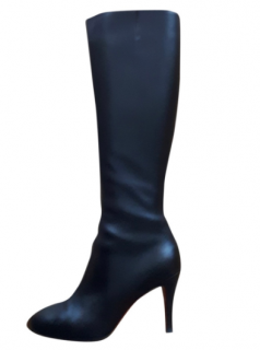 Christian Louboutin Black Babel 85 Calf Carezza Boots