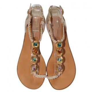 Giuseppe Zanotti Suede Embellished Sandals