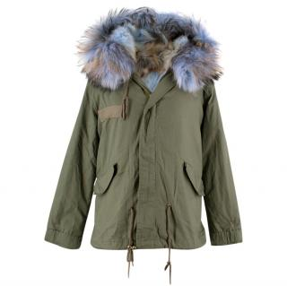 Mr & Mrs Italy Army Fox Fur Khaki Jacket