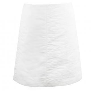 Christian Dior White A-Line Skirt