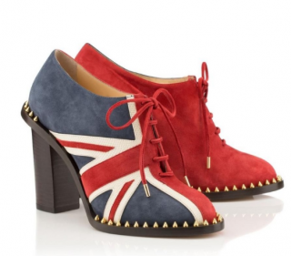 Charlotte Olympia Poirot Union Jack Ankle Boots