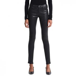 AG Adriano Goldschmied leather trousers