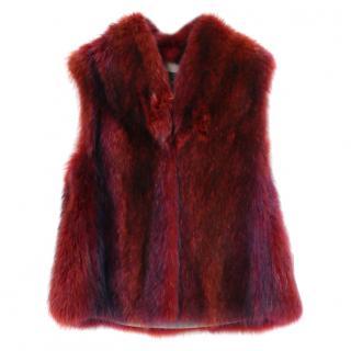 Hockley Ophian Red Raccoon Fur Gilet