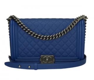 Chanel Blue Caviar New Medium Quilted Boy Bag
