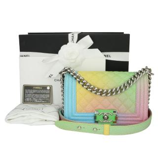 Chanel Small Rainbow Cuba Caviar Boy Bag