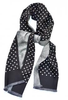 Bottega Veneta men's black polkadot silk scarf