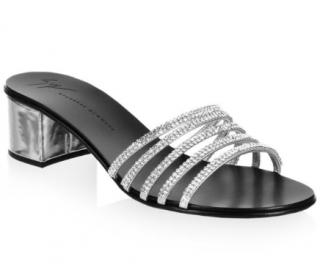 Giuseppe Zanotti cystal embellished block heel sandals