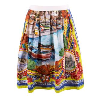 Dolce & Gabbana Girl's Watercolour Print Skirt