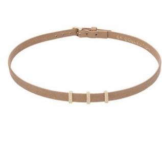 EF Collection Diamond leather choker