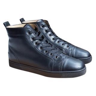 Christian Louboutin Black Leather Hightops