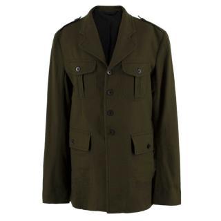 Haider Ackermann Green Wool Jacket
