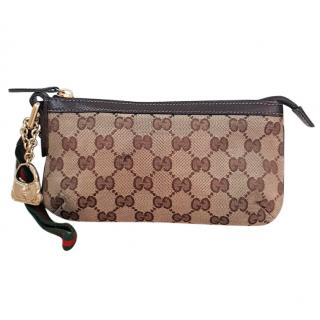 Gucci Monogram GG Clutch bag with keycharm