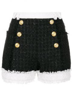 Balmain SS18 tweed shorts