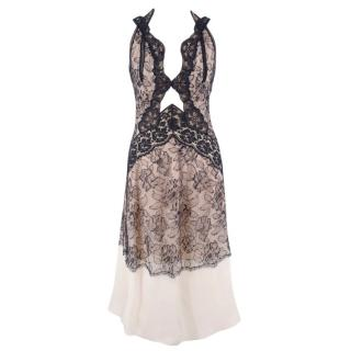 d203564f0112 Stella McCartney Nude and Navy Lace Night Dress