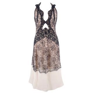 Stella McCartney Nude and Navy Lace Night Dress