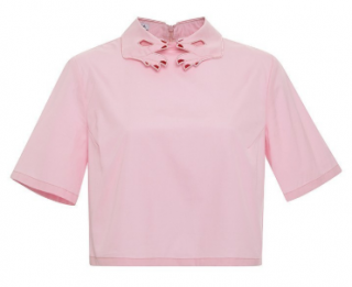 Vivetta 'Bobby' Embroidered Cropped Cotton Shirt