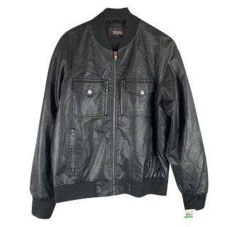 Michael Kors Faux Leather Bomber Jacket