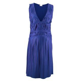 La Perla Blue Pleated Dress