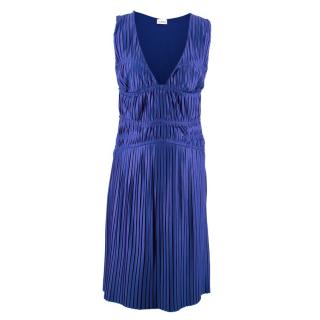 La Perla Blue Pleated Dress