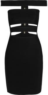 Balmain cutout stretch-knit mini dress