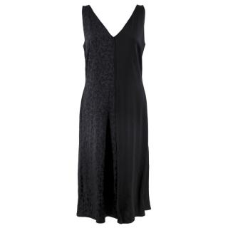 Mulberry Black Panelled Draped Dress
