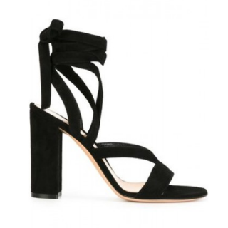 Gianvito Rossi Janis High Suede Sandals