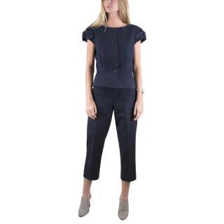 Christian Dior Navy Cotton Suit