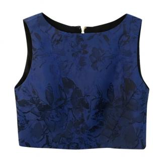 Alice + Olivia Navy Blue Crop Top