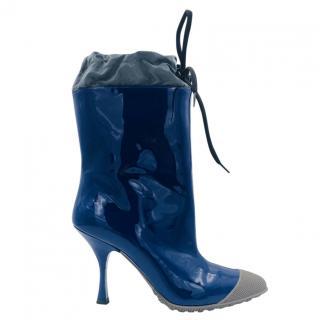 Miu Miu Patent Blue Rainboots