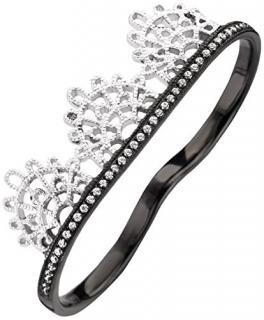 Joelle Twin Finger Diamond Lace Ring