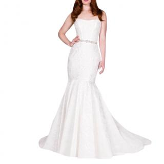 Suzanne Neville Orsay FIshtale Wedding Dress